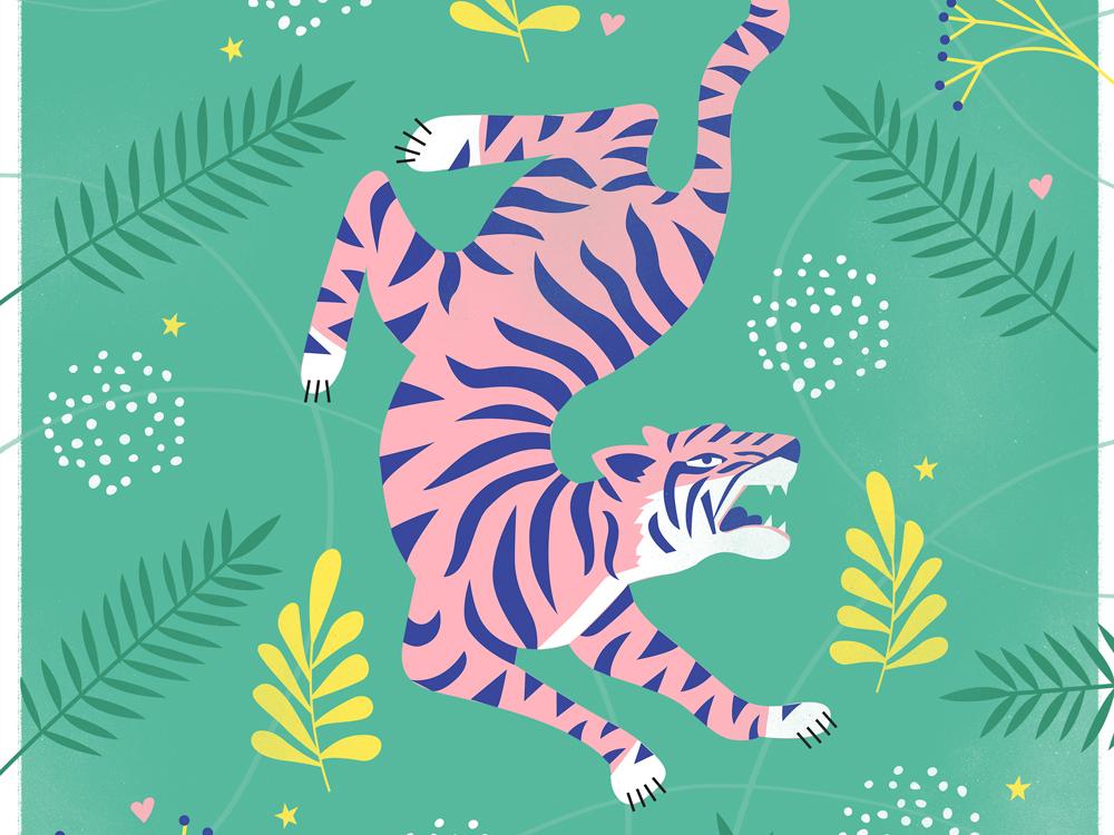 Tiger print illustration tiger