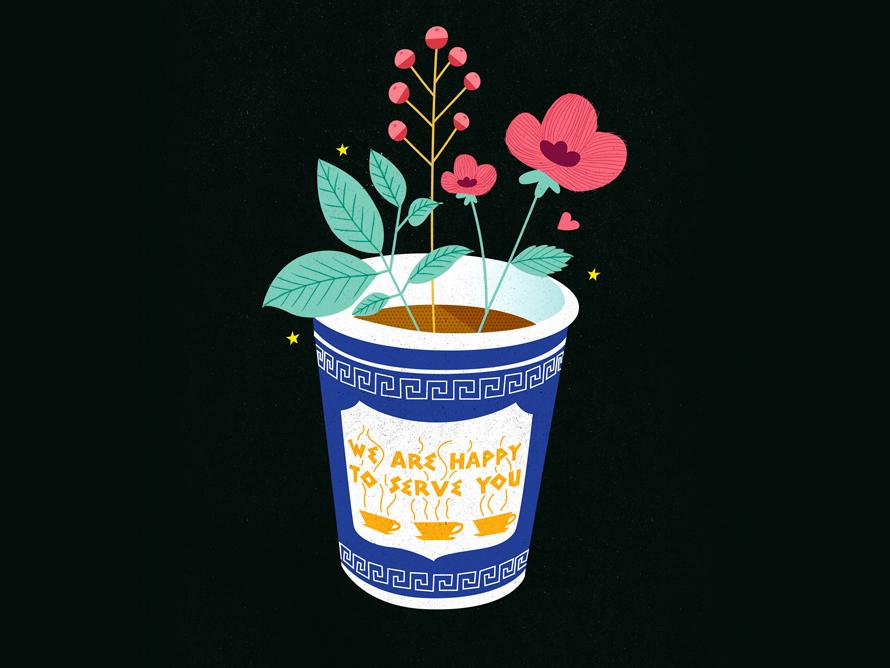 Coffee flowers <3 coffee new york illustration