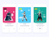 STAR WARS card game app design