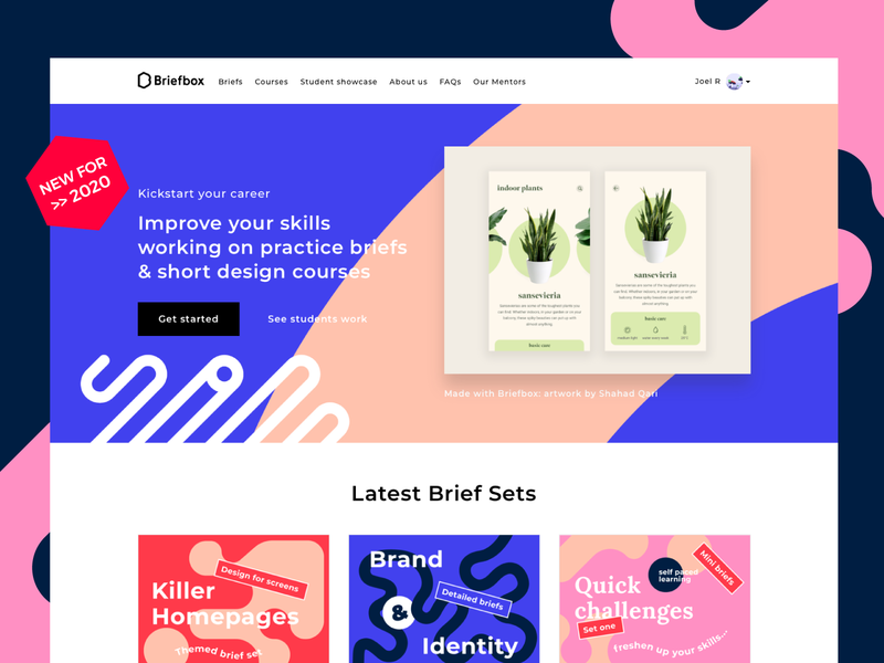 Introducing the brand new Briefbox! ui designers homepage practice design illustration briefs landing cards design briefbox