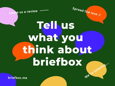 Tell us your thoughts dribbble! typography fun vector learn illustration education homepage practice design design briefbox