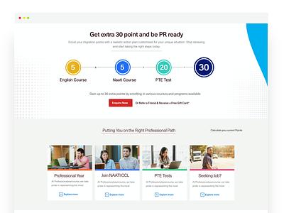 PY Website - Points Section education website website ux website design web adobexd webdesign ui