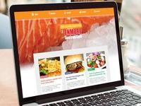 Seafood Cafe Website Designed