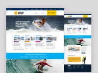 Surfers Free Website Psd File