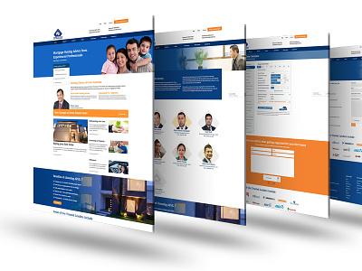 Mortgage Broker Website clean webdesign ui
