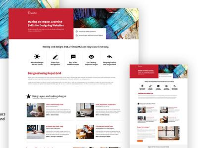 Daily Design Practice sydney website clean ui webdesign