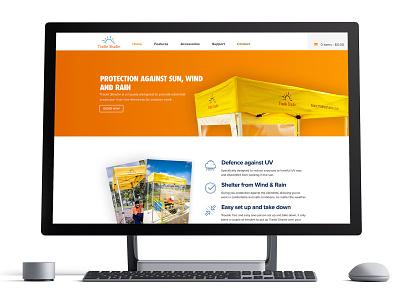 Portable Shelters Website product page woocomerce ecommerce web design design website webdesign ui