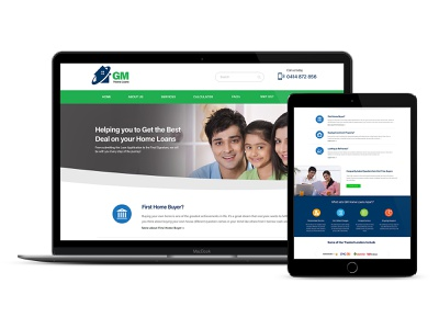 Home Loans Provider Website loans brokers banking ux homepage design homeloans website webdesign ui