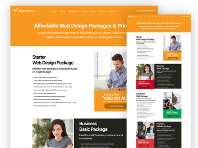 Pricing and Packages Page