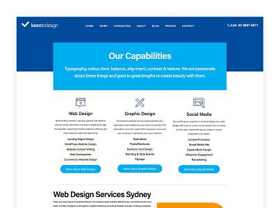 Capabilities Page website design website concept web web design services page services ux adobexd website webdesign ui