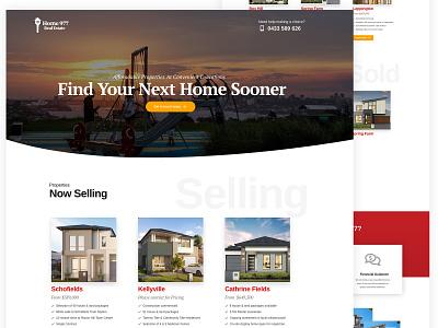 Real Estate Landing Page design website design landing page design landing page realestate madewithadobexd web design adobexd web website webdesign ux ui