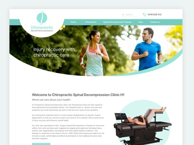 Chiropractic Care Website medical clinic ux design clean website design clean ui web design ux adobexd design webdesign ui