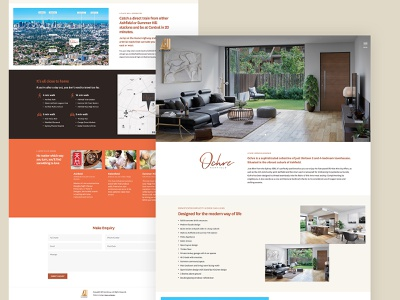Property Landing Page property marketing property property developer landing page web design ux adobexd website webdesign ui