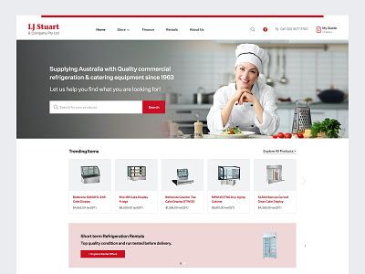 Catering Equipment Online Store woocomerce website design uxdesign ecommerce design shopping ux web design adobexd website webdesign ui ecommerce shop ecommerce