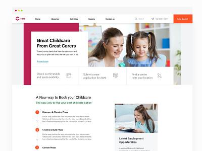 Childcare Website sydney website children clean madewithadobexd web design ux adobexd webdesign ui