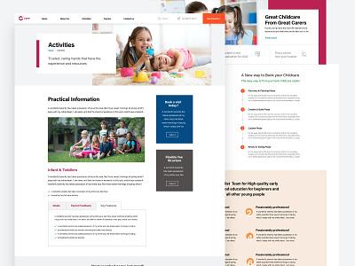 Inner Pages Design Childcare Website best design ui design website design website concept sydney uxdesign uiux web website adobexd webdesign ui