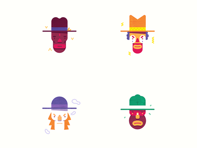 Characters for African Cowboy comic