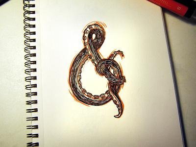 Amp&rsand doodle handlettering