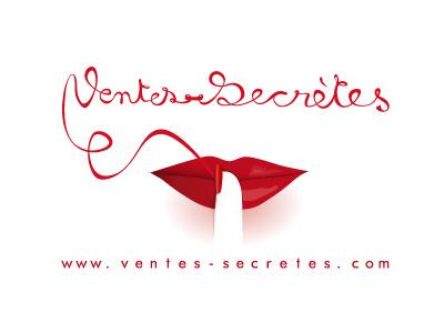 ventes secrètes lettering logotype
