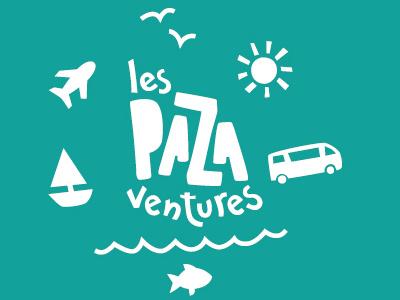 Pazaventures lettering logotype