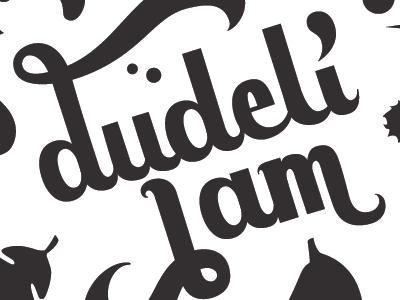 Dudeli jam lettering logotype