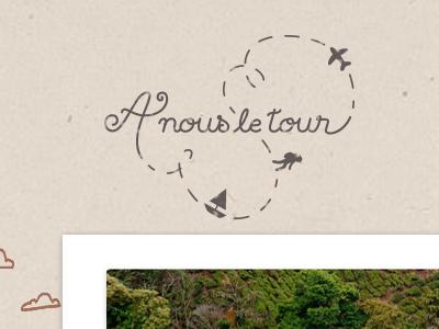 A nous le tour lettering logotype