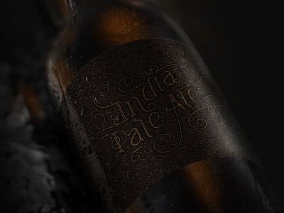 Indian Pale Ale beer lettering