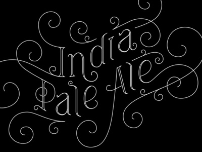Indian Pale Ale - vector vector lettering