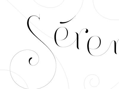 Sérénité vector lettering