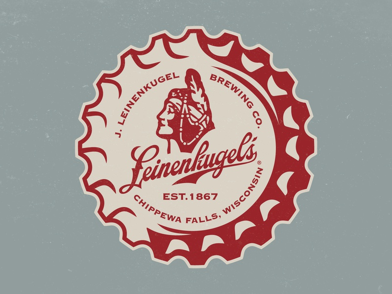 Leinenkugel's Crown crown bottlecap milwaukee beer branding beer art label logo design badge design badge logo brand identity beer wisconsin badge logo
