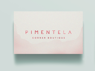 Pimentela Bizcard FRONT proposal print business card foil pink soft fabriano dipped