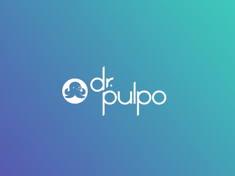 Dr Pulpo branding octopus lettering icon cute color geometric