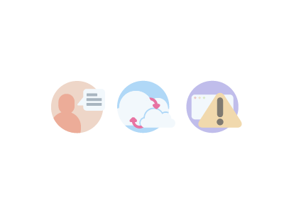 Nubity - Icons onboarding icons profile integrate cloud pastel cute happy alarms notifications
