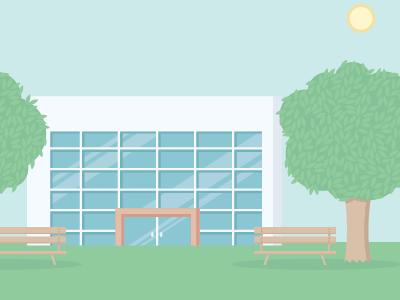 Diretec - Background illustration building background video vector plants