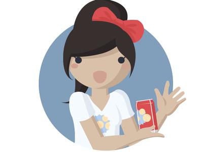 Diretec - Character Sample illustration girl character soda vector