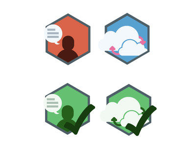 Nubity - Onboard Icons icons comopleted states color illustration
