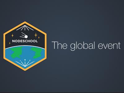 Nodeschool International Day Sticker collaboration javascript mission patch sticker event nodeschool