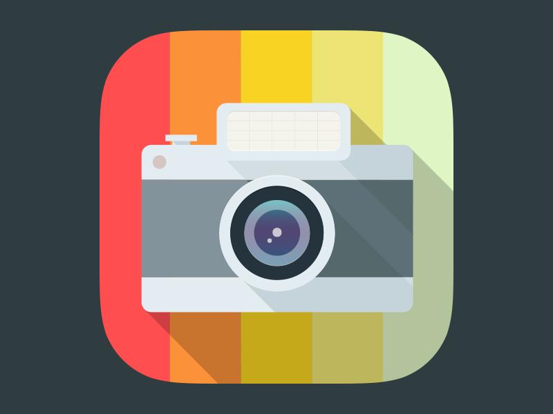 Color Viewfinder Icon color vector illustration camera icon