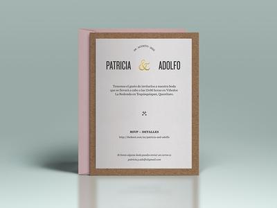 Paty & Adolfo print paper render ampersand invites wedding
