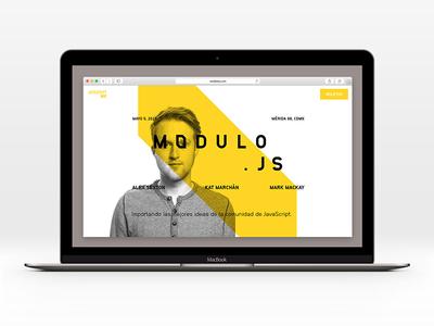Módulo.js - Landing tech event event community landing development design frontend website