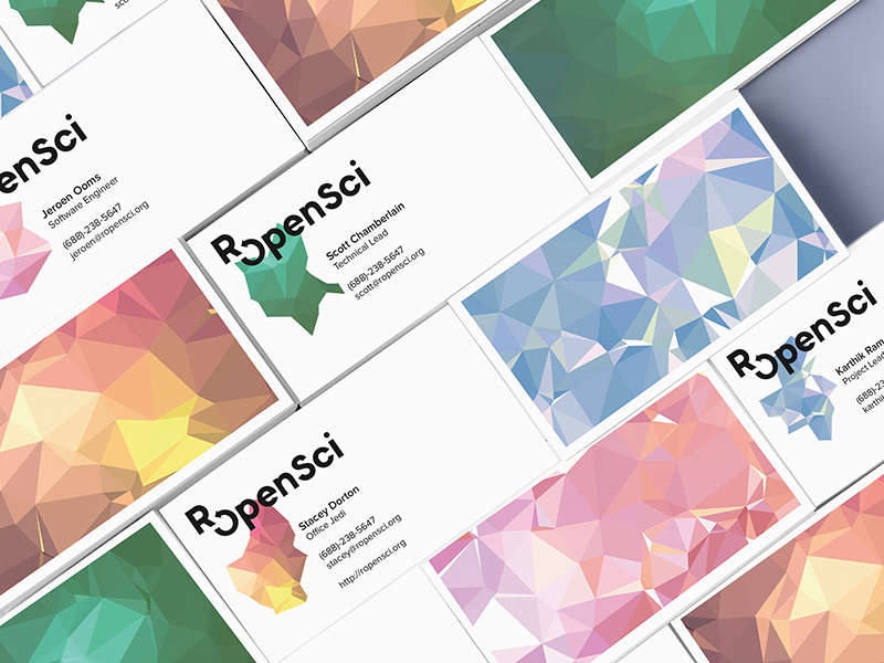 ROpenSci - Polygen shape pattern geometric open generative science logo polygon