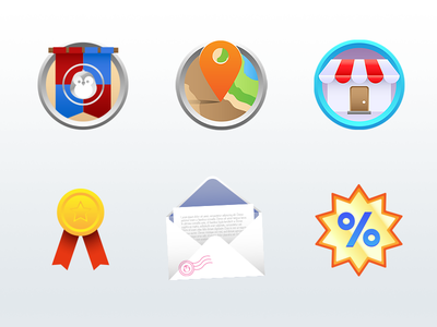 Game Icons inbox message discount shop store map iconography icon illustration app game