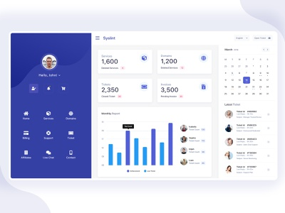 Whmcs Client Area illustration typography gradient simple graph dashboard web design cpanel whmcs