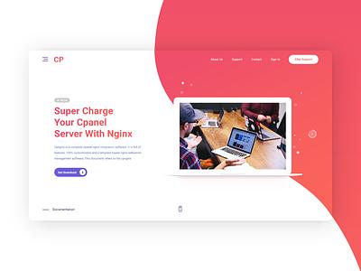 Cpnginx Web Site chatbots evolve organic shapes minimalism cpanel typography branding webdesign design ui simple gradient