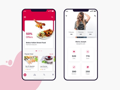 Restaurant Automation App ios simple gradient work food app beautiful mobile ui uiux restaurants