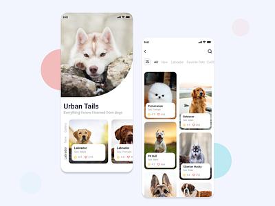 Mobile app - Pet Shop ux gradient light simple typogaphy activities latest design ios minimalist all mobile app dribbble mobile pets dog design banner app
