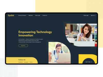 Server Support Company Landing  Page