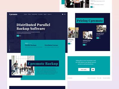 CP -  Web Design Exploration gradient ui simple dribbble clean 2020 web design trends for 2020 web design typography graphic design design branding