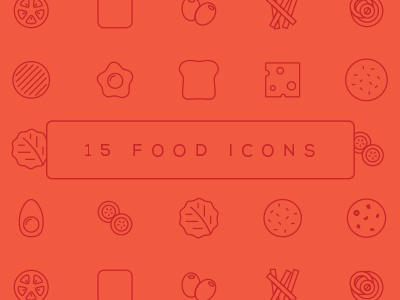 15 Food Icons vector food design flat illustration icons