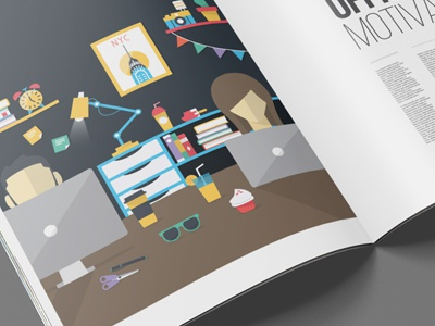 Illustration Home Office icons vector home office illustration design flat